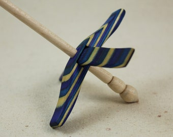 Caribbean Wave SpectraPly Mini Glider Turkish Drop Spindle