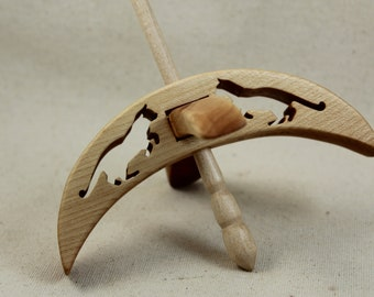 Maple Cat Turkish Drop Spindle 5 inch arms 8 inches tall