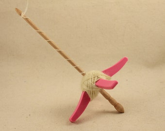 Pink 3D printed Glider Turkish Drop Spindle