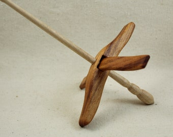 Tigerwood Medium Glider Turkish Drop Spindle