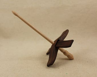"5/8"" Walnut Mini Glider Turkish Drop Spindle"