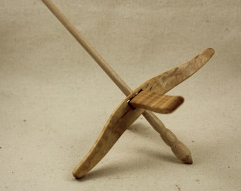 Tiger Maple Full Size Glider Turkish Drop Spindle