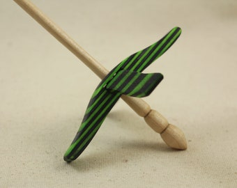 Green Hornet SpectraPly Mini Glider Turkish Drop Spindle