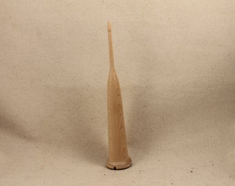 1.5 oz Maple Scottish style drop spindle 8 inch