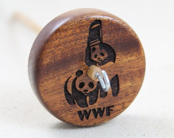 Mahogany WWF Parody Top Whorl Drop Spindle Medium Weight