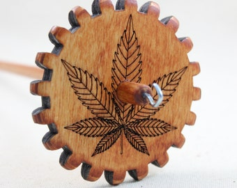 Marijuana Leaf Gear Spindle