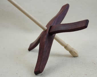 Purpleheart Full Size Glider Turkish Drop Spindle