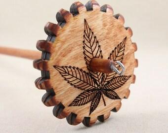 Medium Weight Marijuana Leaf Gear Spindle