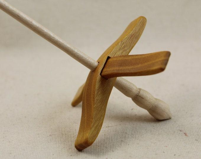 Featured listing image: Osage Orange Mini Glider Turkish Drop Spindle