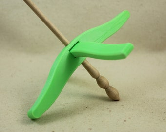 Lime Green 3D printed Full Size Glider Turkish Drop Spindle