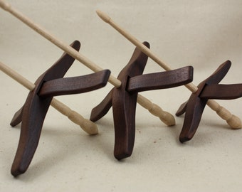Walnut Glider Turkish Drop Spindle Set