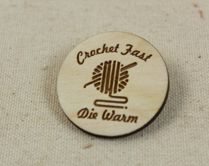 "Featured listing image: 1 1/2"" Laser Engraved Pins"
