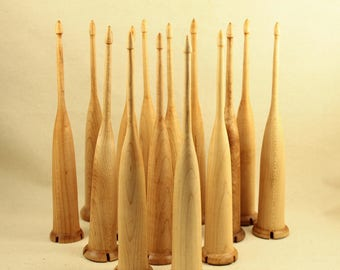 2.0oz Maple Scottish style drop spindle 8 inch