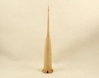 1.3 oz Maple Scottish style drop spindle 8 inch
