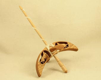 Cut-out Wolf Turkish Drop Spindle