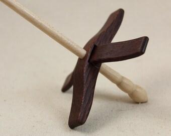 Leopardwood Mini Glider Turkish Drop Spindle