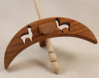 Cut-out Alpaca Turkish Drop Spindle