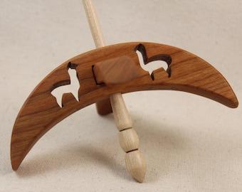Cut-out Alpaca Turkish Drop Spindle