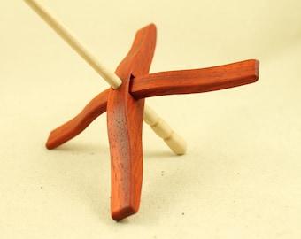 African Padauk Glider Turkish Drop Spindle