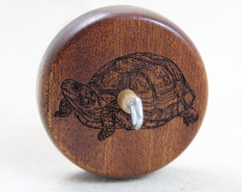 Mahogany Turtle Top Whorl Drop Spindle Medium Weight