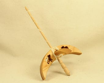 Cut-out Pig Turkish Drop Spindle