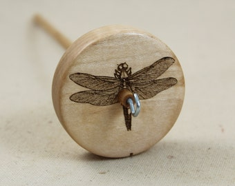 Maple Dragonfly Top Whorl Drop Spindle Medium Weight
