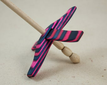 Cotton Candy SpectraPly Mini Glider Turkish Drop Spindle