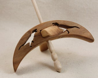 Cut-out MapleT-rex Turkish Drop Spindle