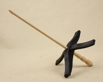 3D printed Glider Turkish Drop Spindle Black