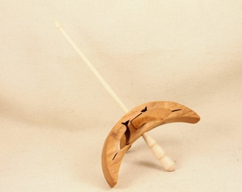 Cut-out Narwhal Turkish Drop Spindle