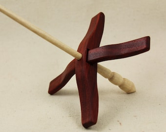 African Padauk Medium Glider Turkish Drop Spindle