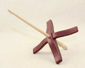 Purpleheart Medium Glider Turkish Drop Spindle