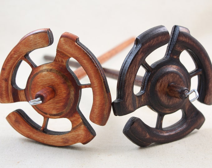 Featured listing image: Medium weight 45 spindle Top Whorl Drop Spindle