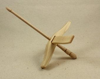 """5/8"""" Maple Medium Glider Turkish Drop Spindle"""