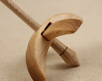 Maple Mini Turkish Drop Spindle 2.5 inch arms 4.25 tall