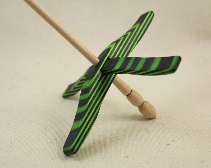 Featured listing image: Green Hornet SpectraPly Full size Glider Turkish Drop Spindle
