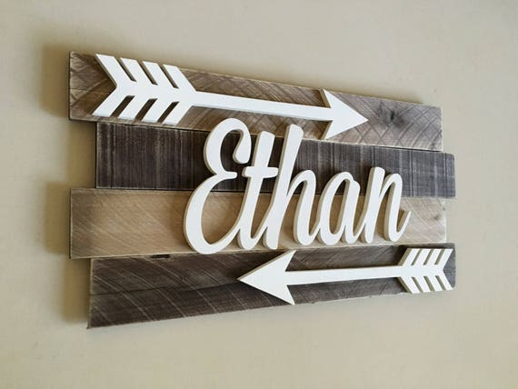 Nursery Wood Name Sign Nursery Name Sign Rustic Nursery