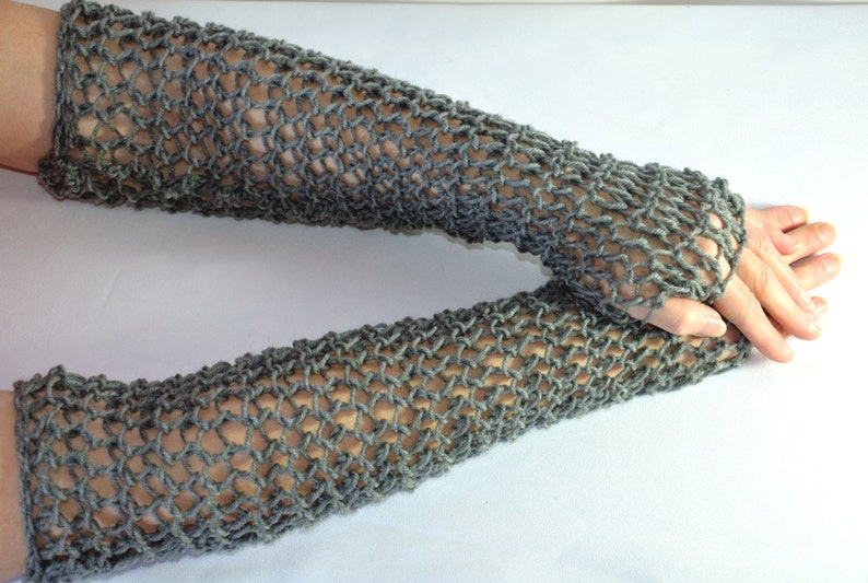 b80f72f218a Chain Mail Sleeves hand knitted faux maille fingerless
