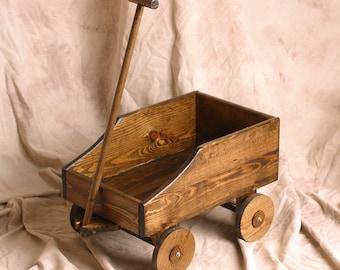 Baby Wedding Wagon / ring bearer wagon / flower girl wagon / child wagon / wagon for wedding