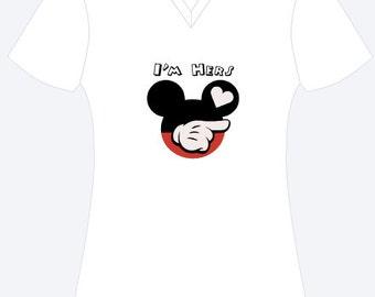 She's Mine Mickey Personalized Shirt, Valentine's Shirt, Personalized Shirt, Disney Shirt, Custom Shirt