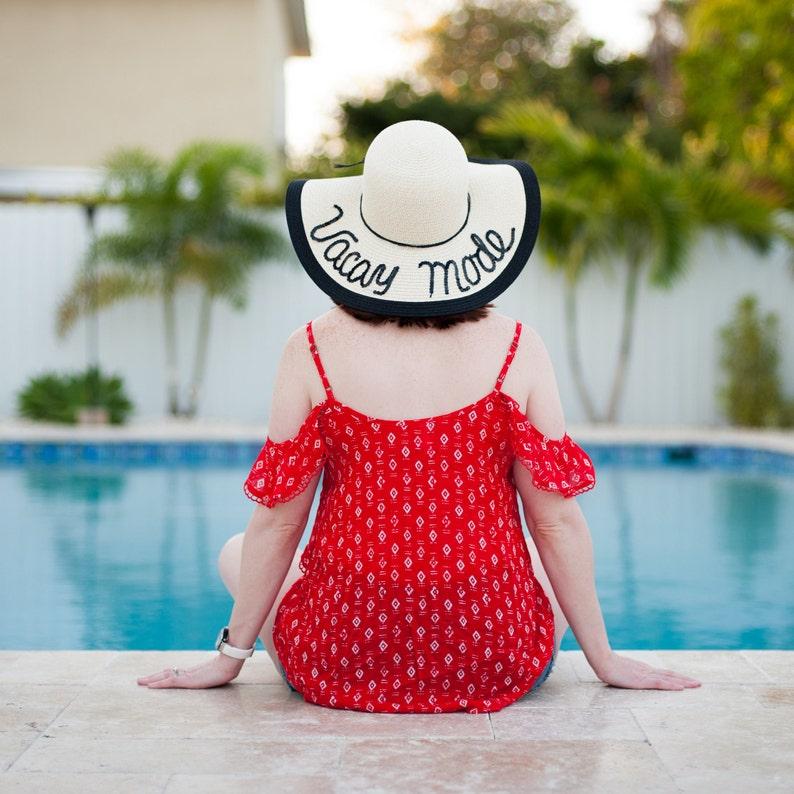 78784a39e697c Vacaciones modo disco playa sombrero sombrero personalizada