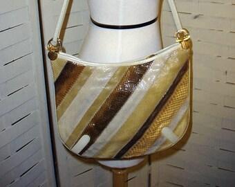 Vintage 70s Snakeskin Shoulder Bag