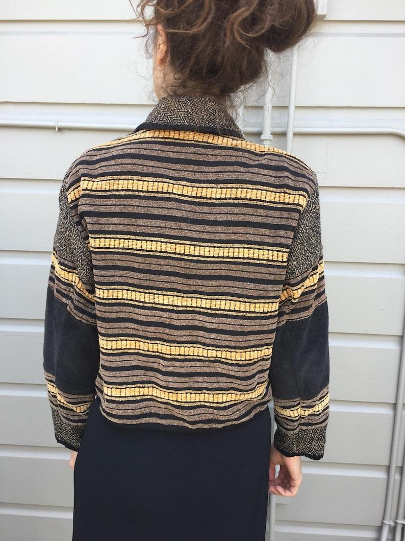 90s cropped tapestry blazer