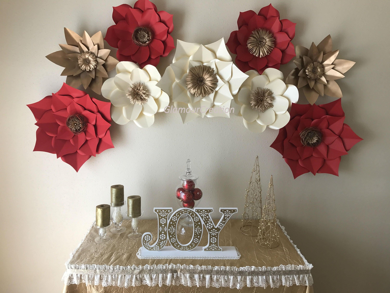 Sale Paper Flower Backdropgiant Paper Flowerswedding Etsy