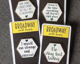 Broadway Well-Being Rainbow Enamel Pins