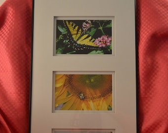 Butterfly/Bee with Flowers print
