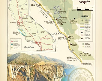 Big Sur Map Etsy