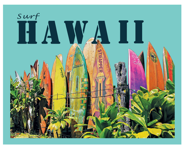 Hawaiian post card print