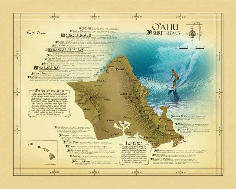 Oahu Surf Break Map 11