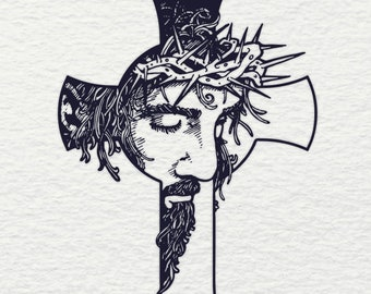 Jesus Cross Svg Etsy